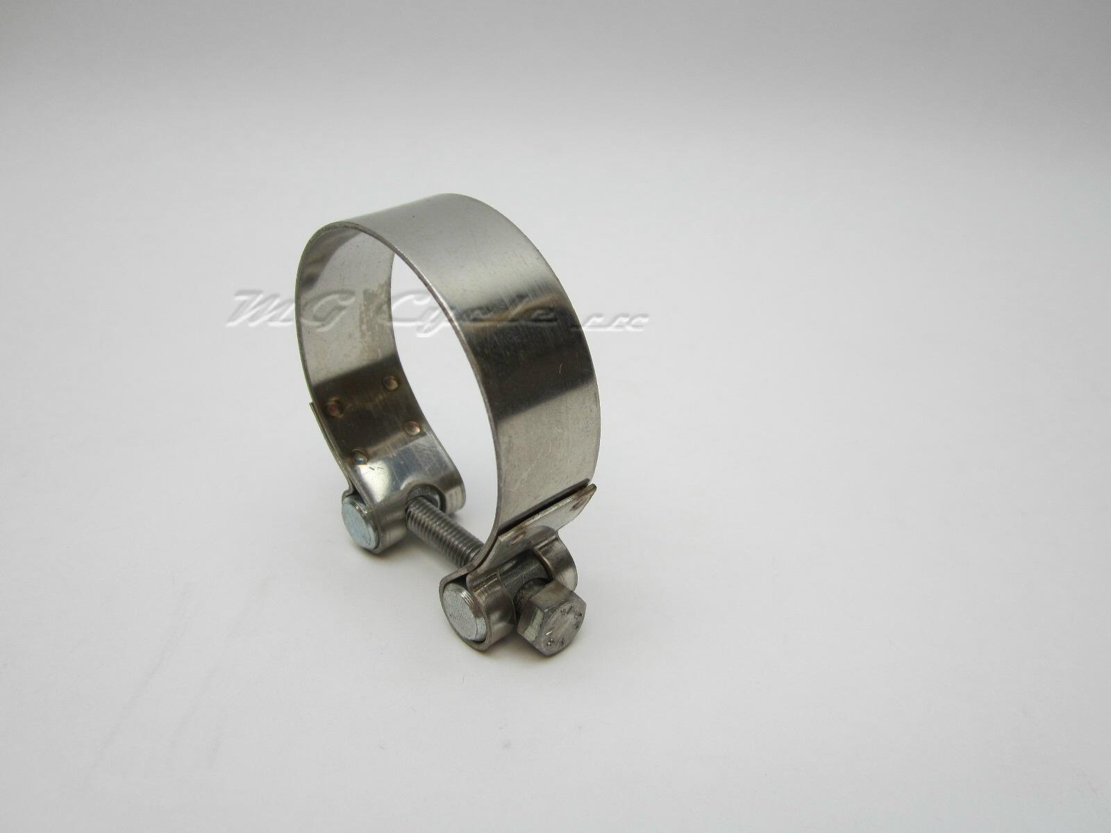 muffler clamp for V11 Sport and V11 LeMans, stainless steel
