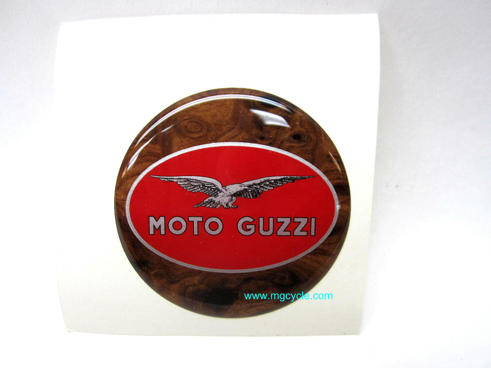 3D decal Moto Guzzi round 60mm diameter fits Hepco Becker