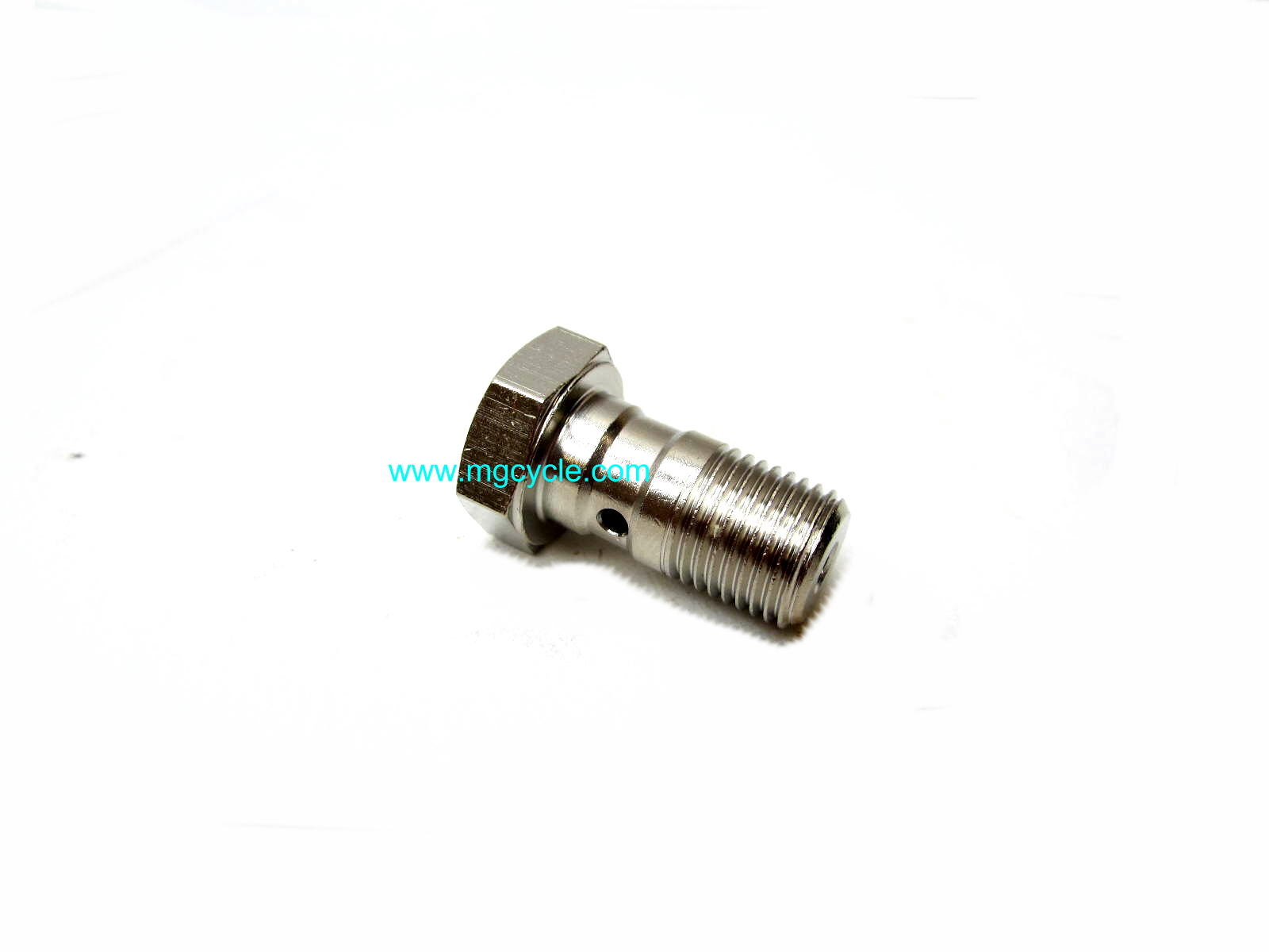 Brembo bright plated banjo bolt 10mm x 1.0 thread
