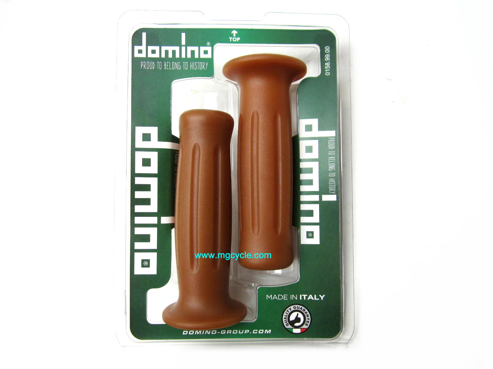 Italian Domino Retro Vintage Grips, classic natural color