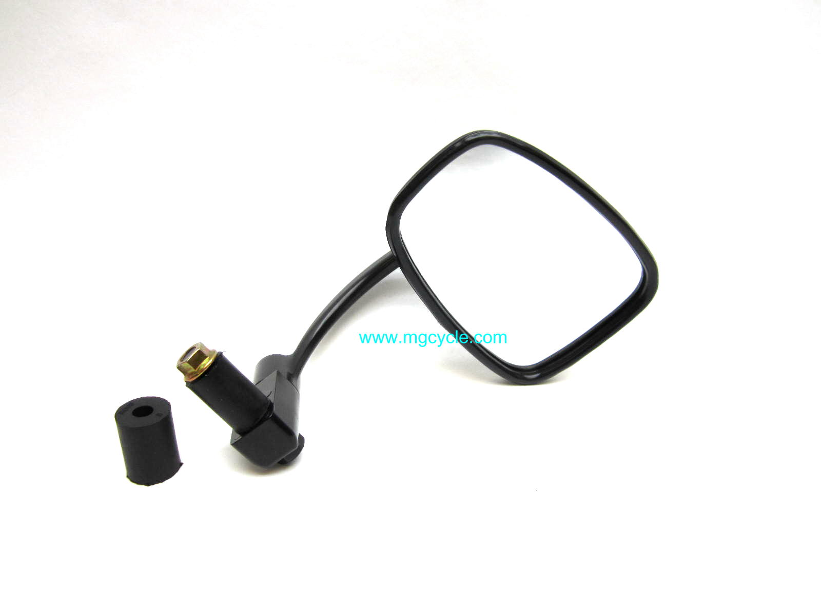 black round bar end mirror, left or right, Ken Sean