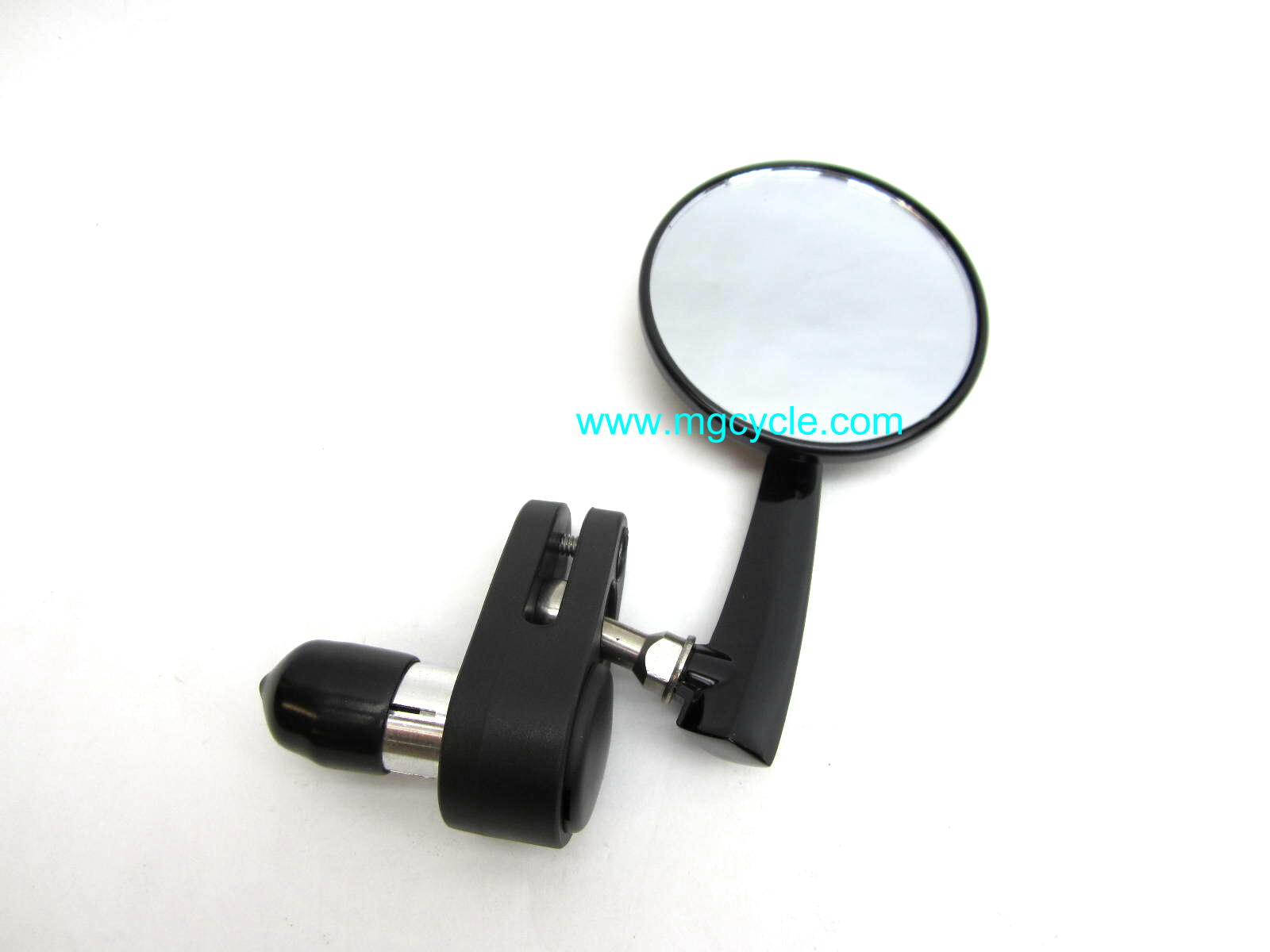 "black right 3"" bar end mirror, convex lens for 7/8"" bars"