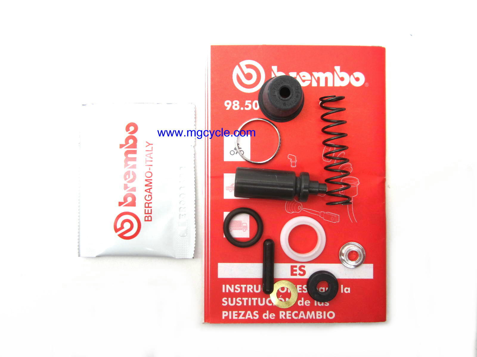 Brembo front 13mm master cylinder repair kit, V11 California