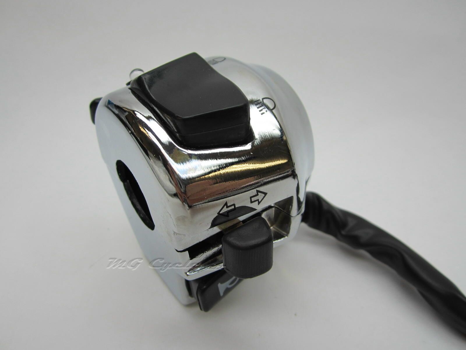 chrome handlebar switch headlight high-low signals-horn, LED