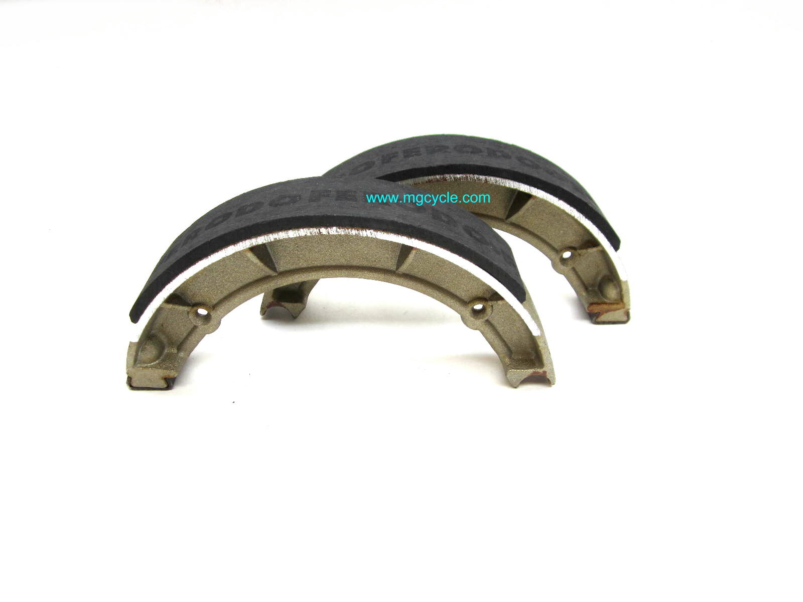 Ferodo front brake shoes Eldorado, Ambassador, rear on V7 Sport