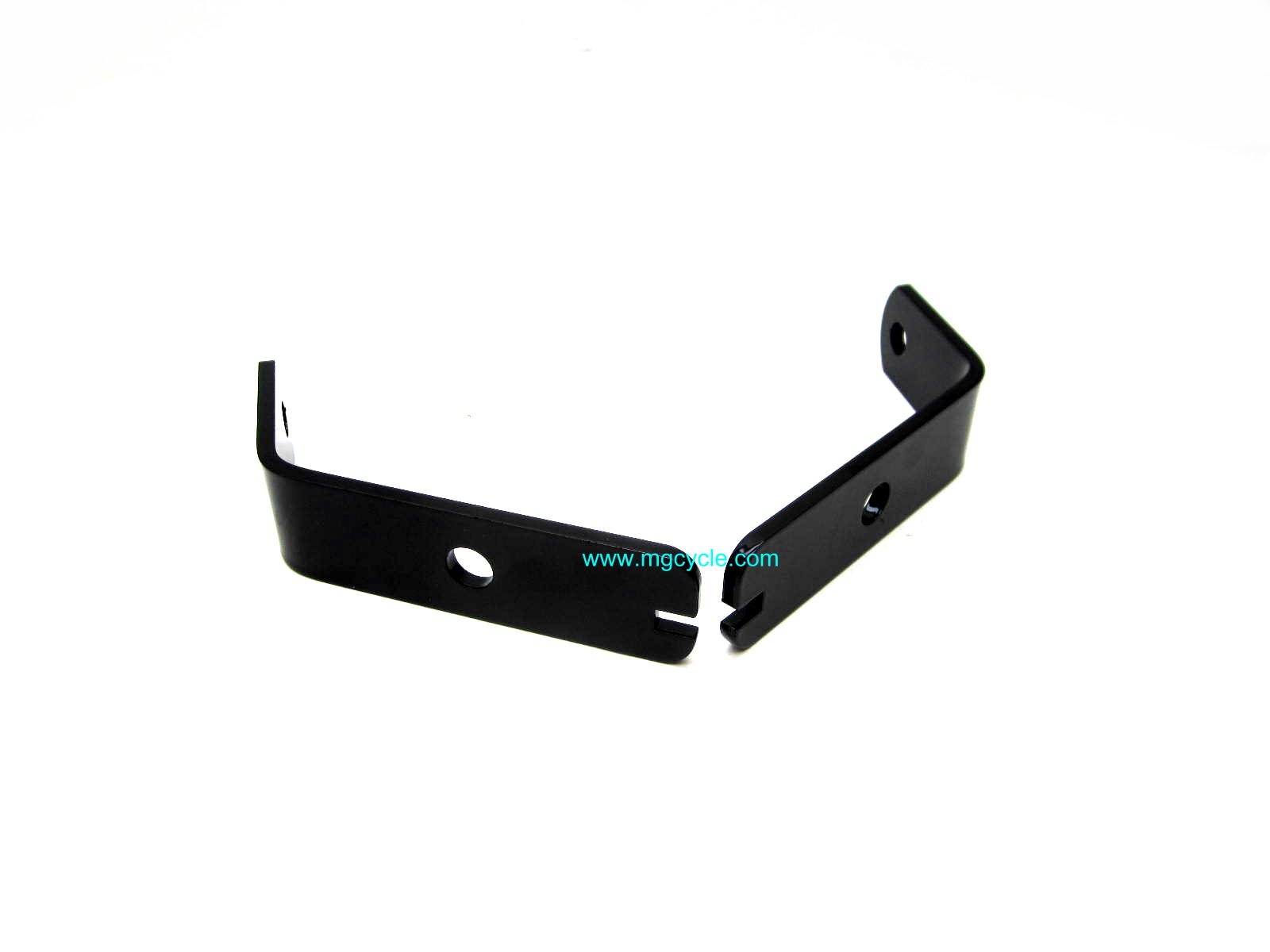Front turn signal mount set, black powdercoat Eldorado 850GT