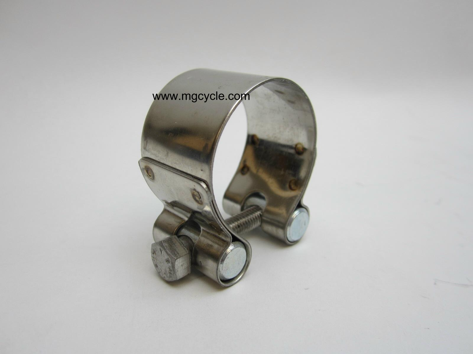 crossover clamp, Eld/Amb/V700, stainless steel exhaust clamp