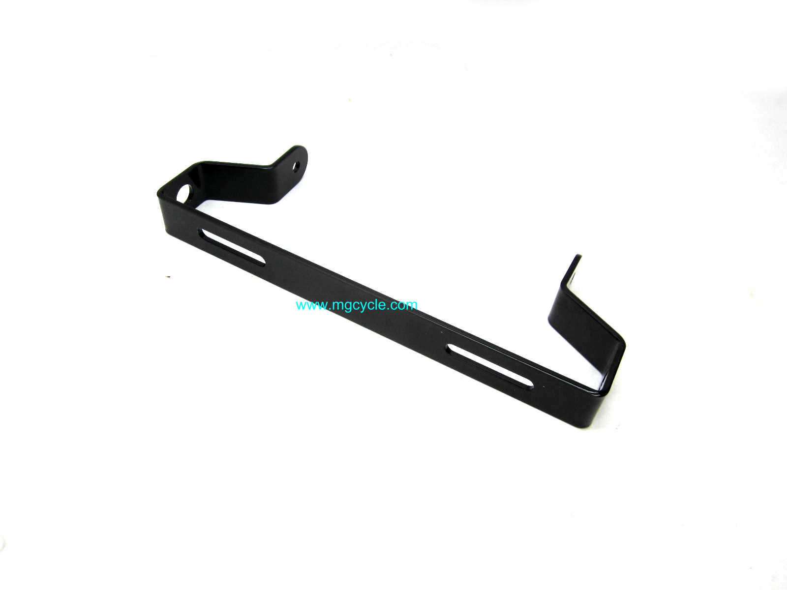 Rear turn signal mounting bracket, Amb, Eld, black powdercoat