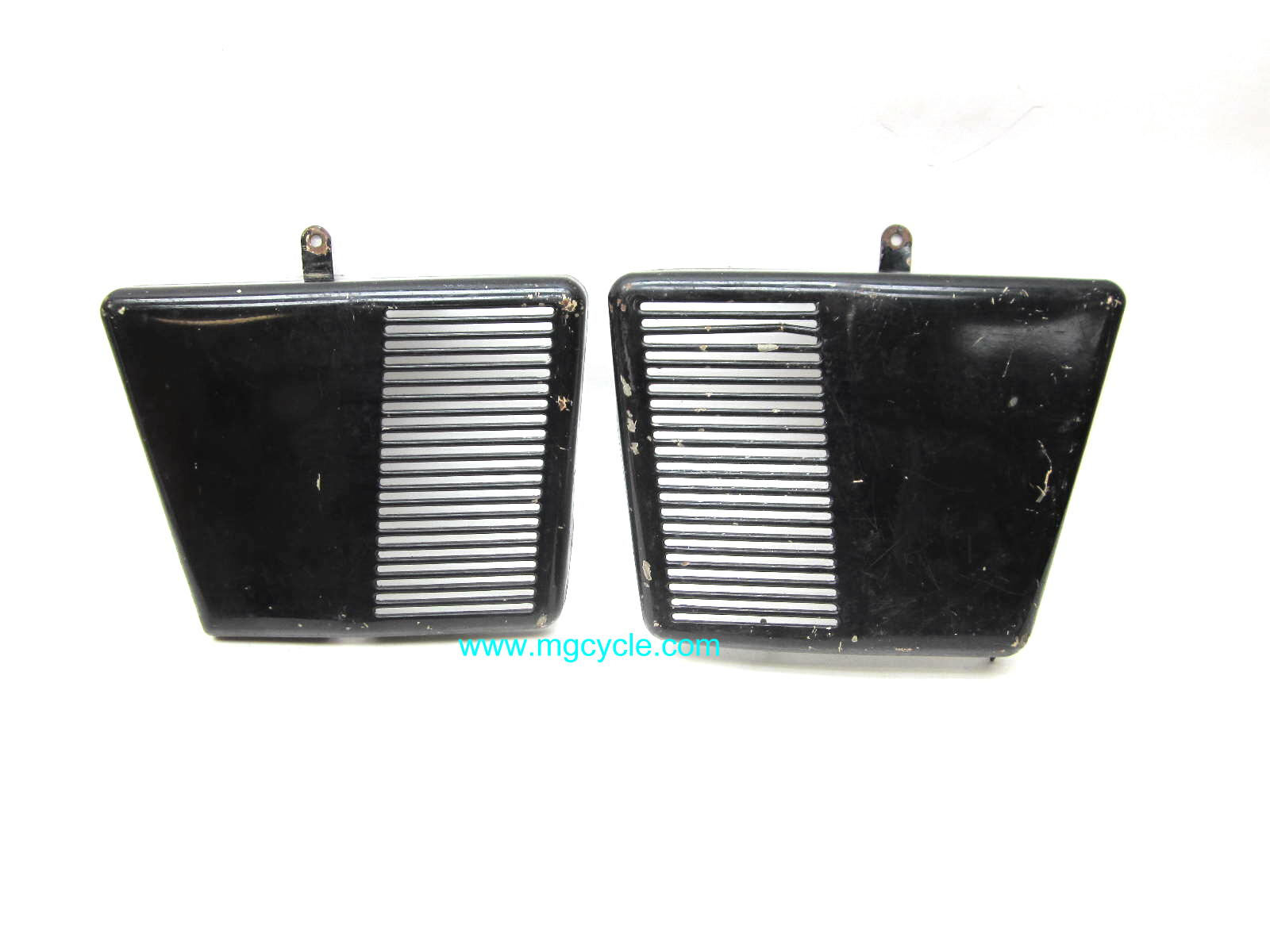 USED: PAIR Eldorado/Ambassador battery covers, poor condition