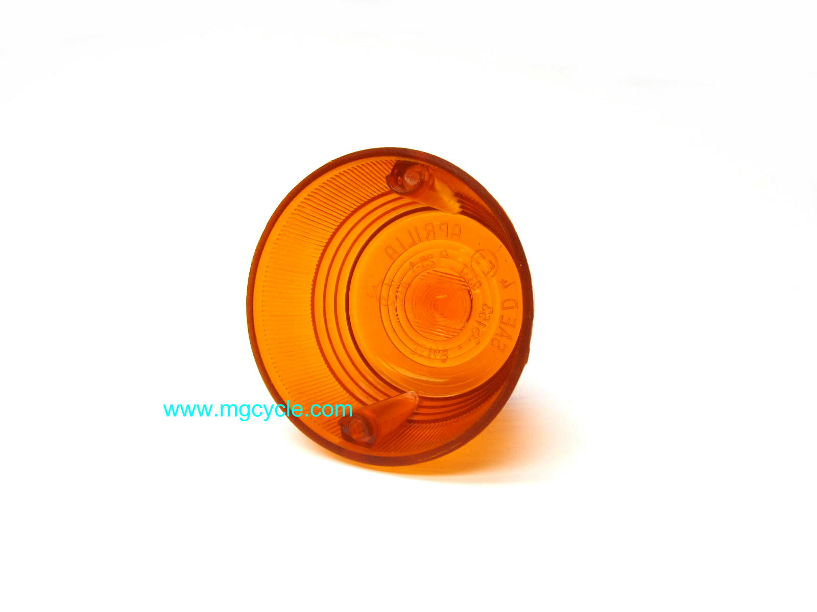 Amber lens for 1970s Aprilia turn signals 079503410 13753760
