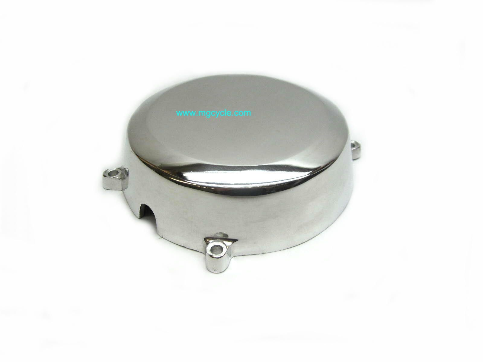 Alternate aluminum alternator cover for many Guzzi big twins