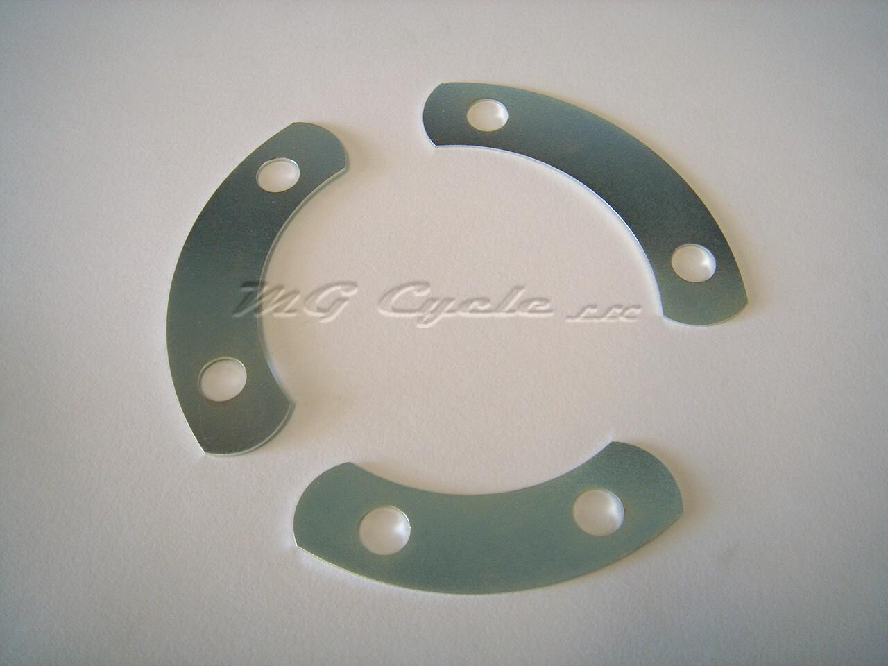 fold over lock plate set front main bearing filter big twins