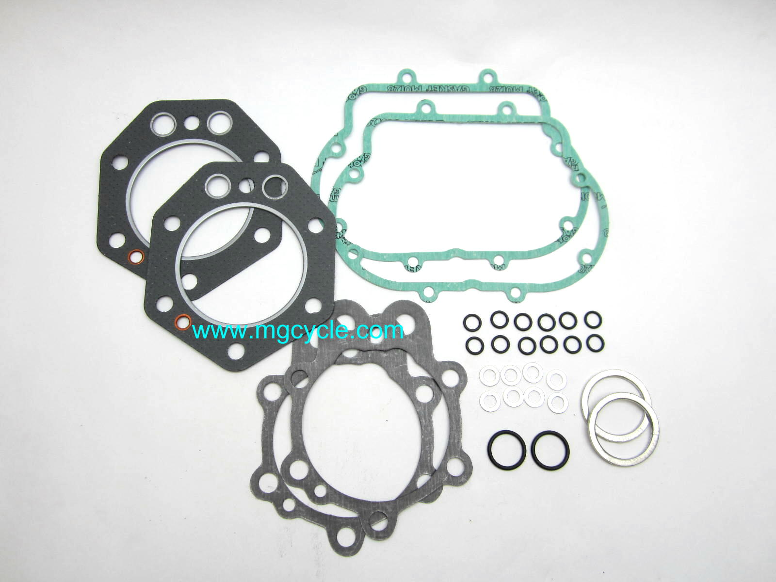 Top end engine gasket set 850cc 83mm round fin 1975-80