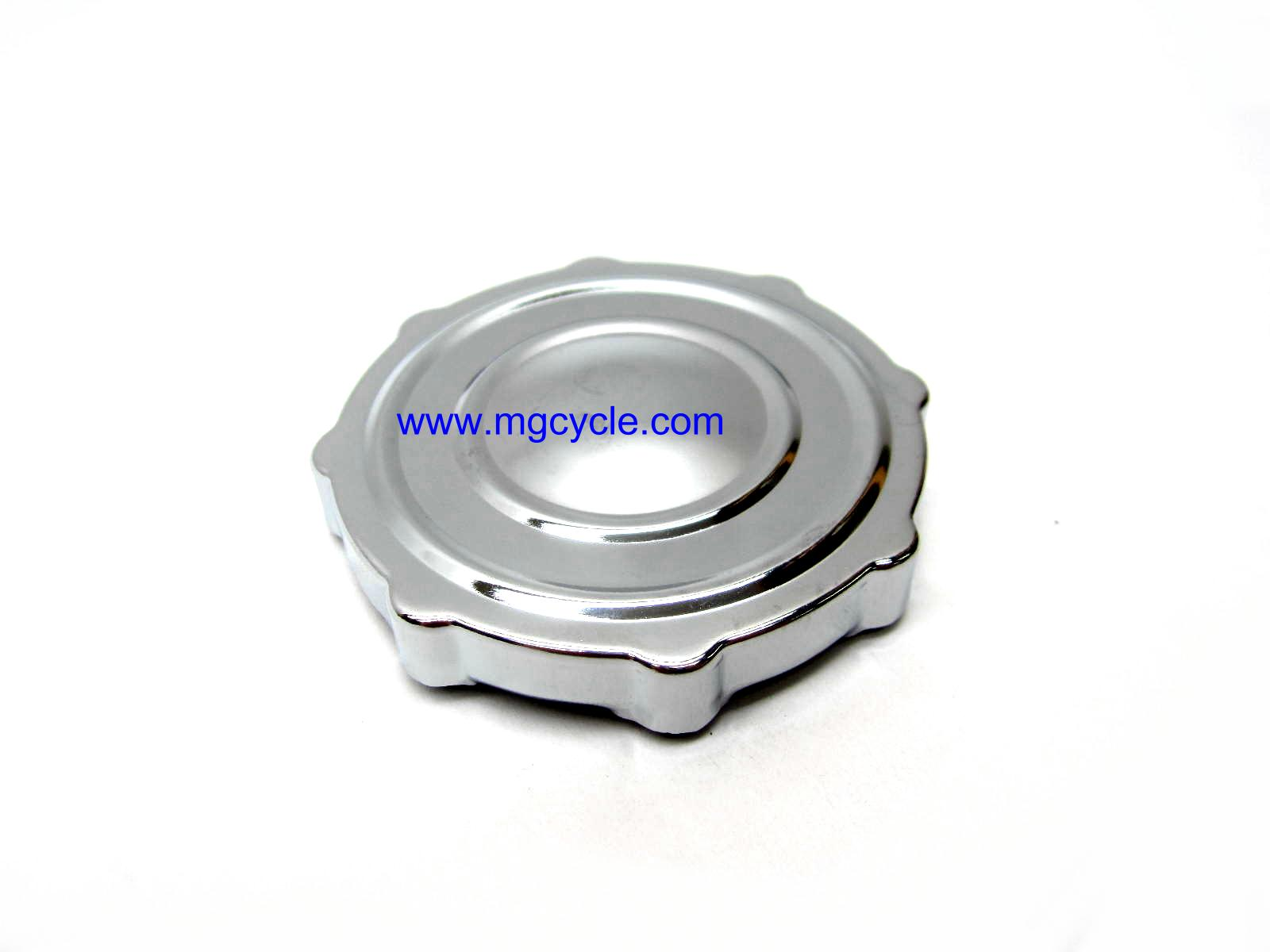 fuel tank cap, low profile, vented, chrome, many models
