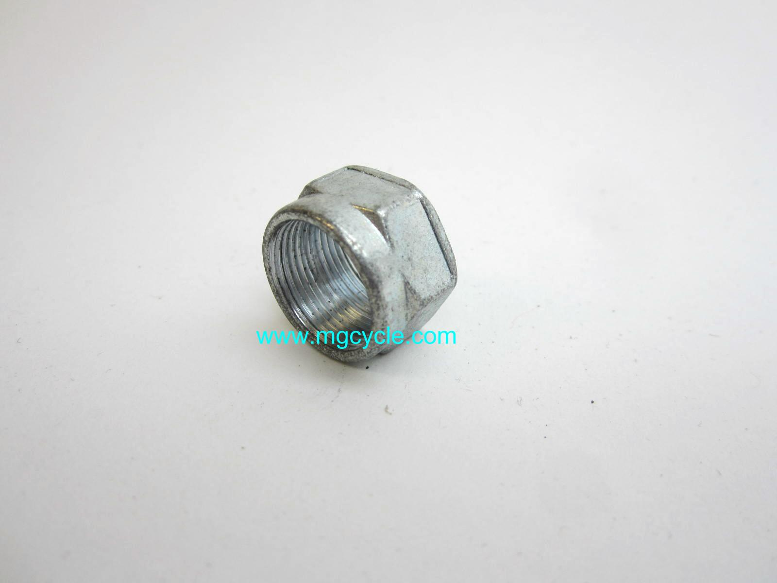 Petcock nut, M16 x 1.00 thread pitch, many Guzzi petcocks