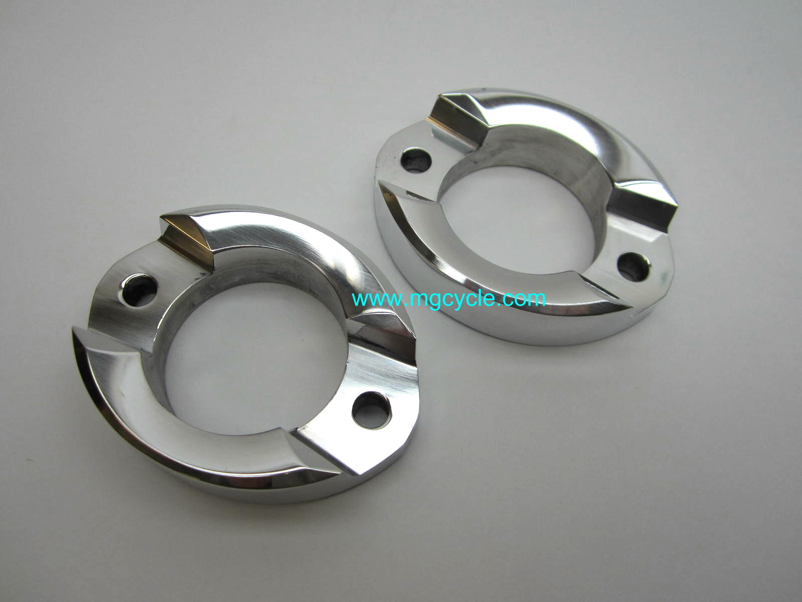 CNC aluminum exhaust flange, big ~48mm hole for 850 LeMans 1/2