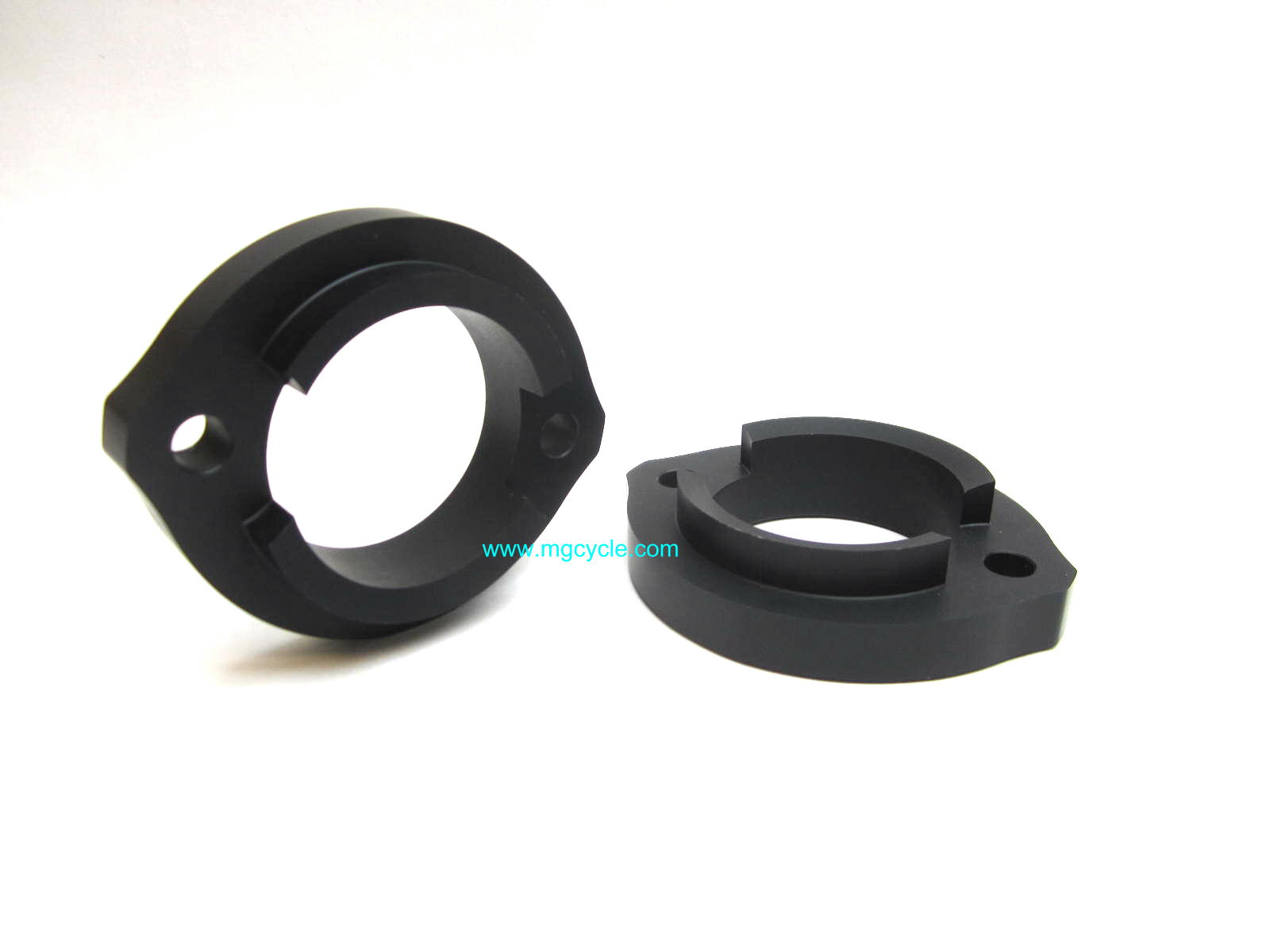 black CNC aluminum exhaust flanges big ~48mm hole for 850 LeMans