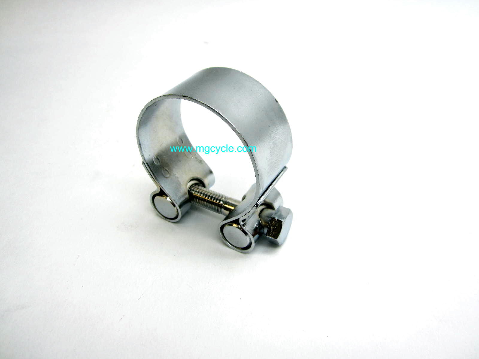 Chrome muffler clamp T3, Cali's, Tontis 44.5mm GU14123400