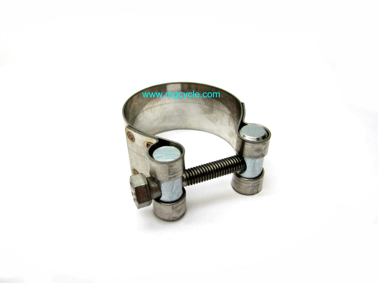 Stainless crossover clamp T/T3/Cal3/1100, V7 Sport muffler clamp