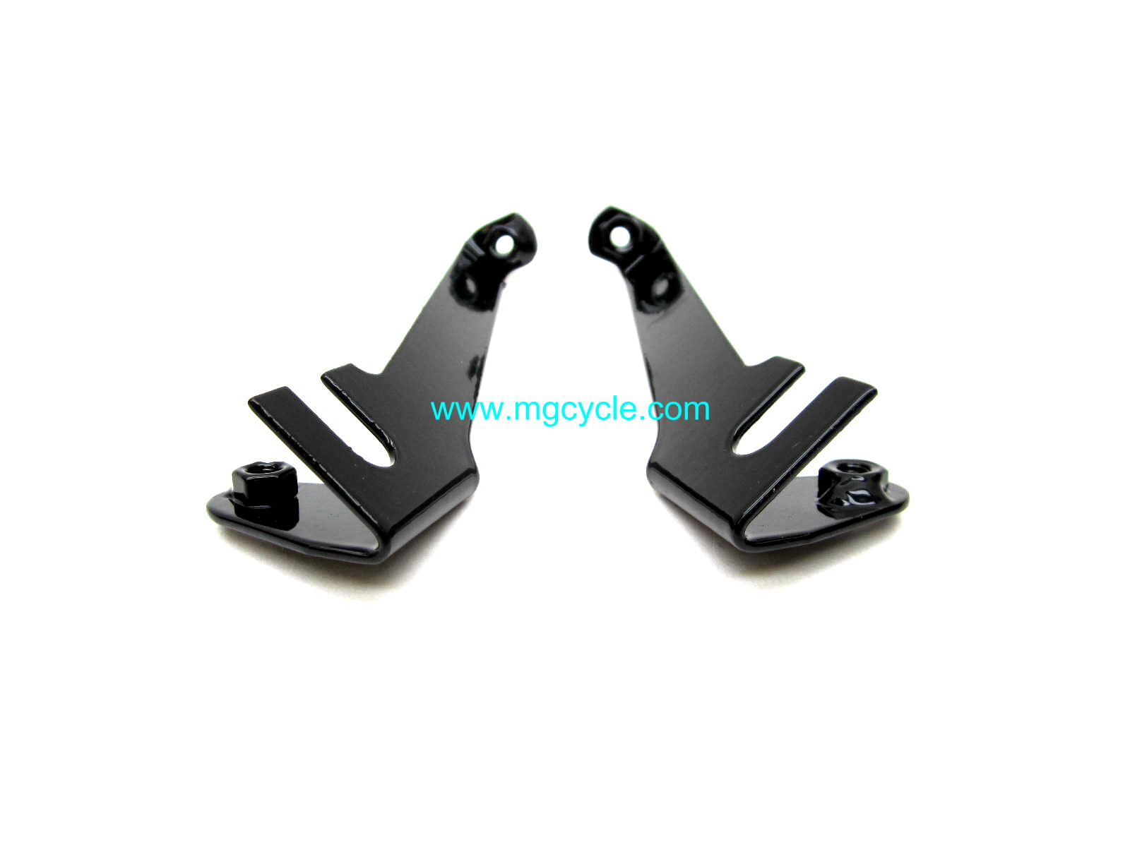 fairing bracket set, LM1, L-R, black, upper only
