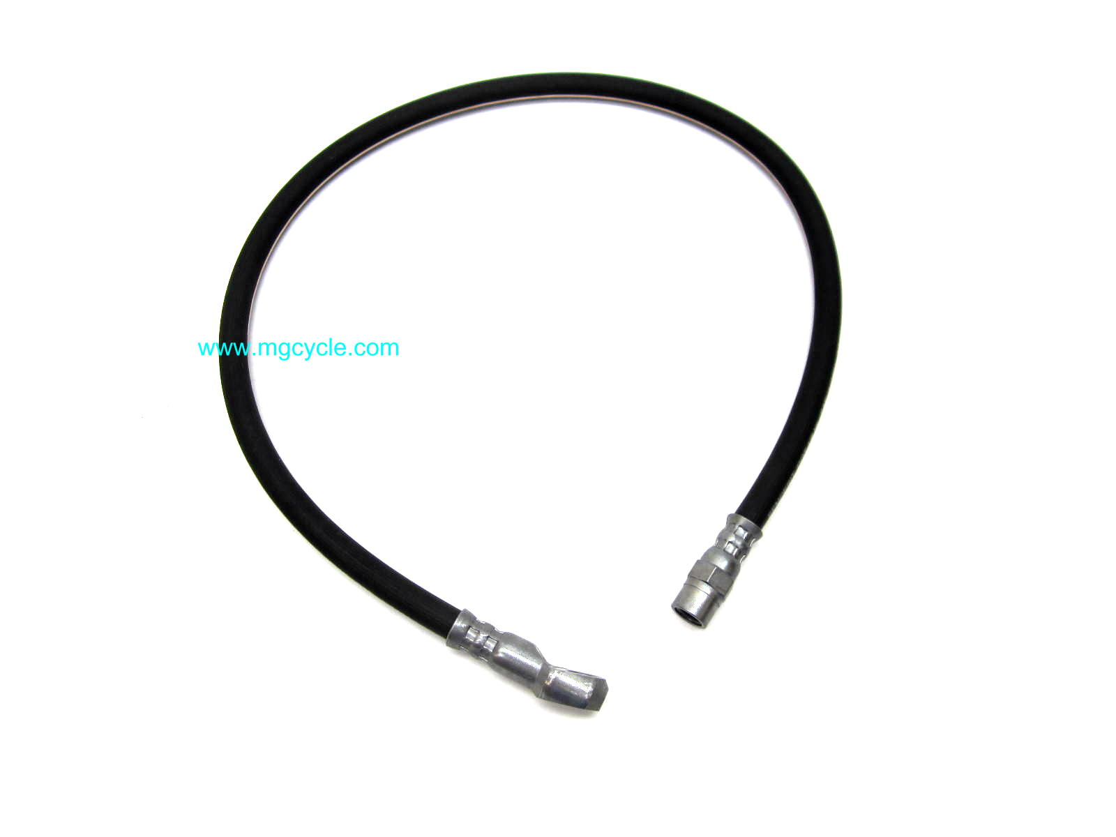 Rubber brake hose, banjo at LF Caliper to female at rigid pipe,