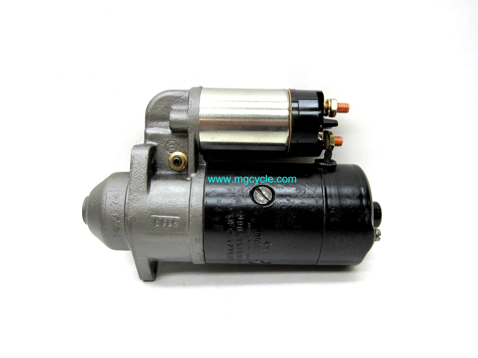 Bosch starter, re built Guzzis starting w/V7 Sport core exchange