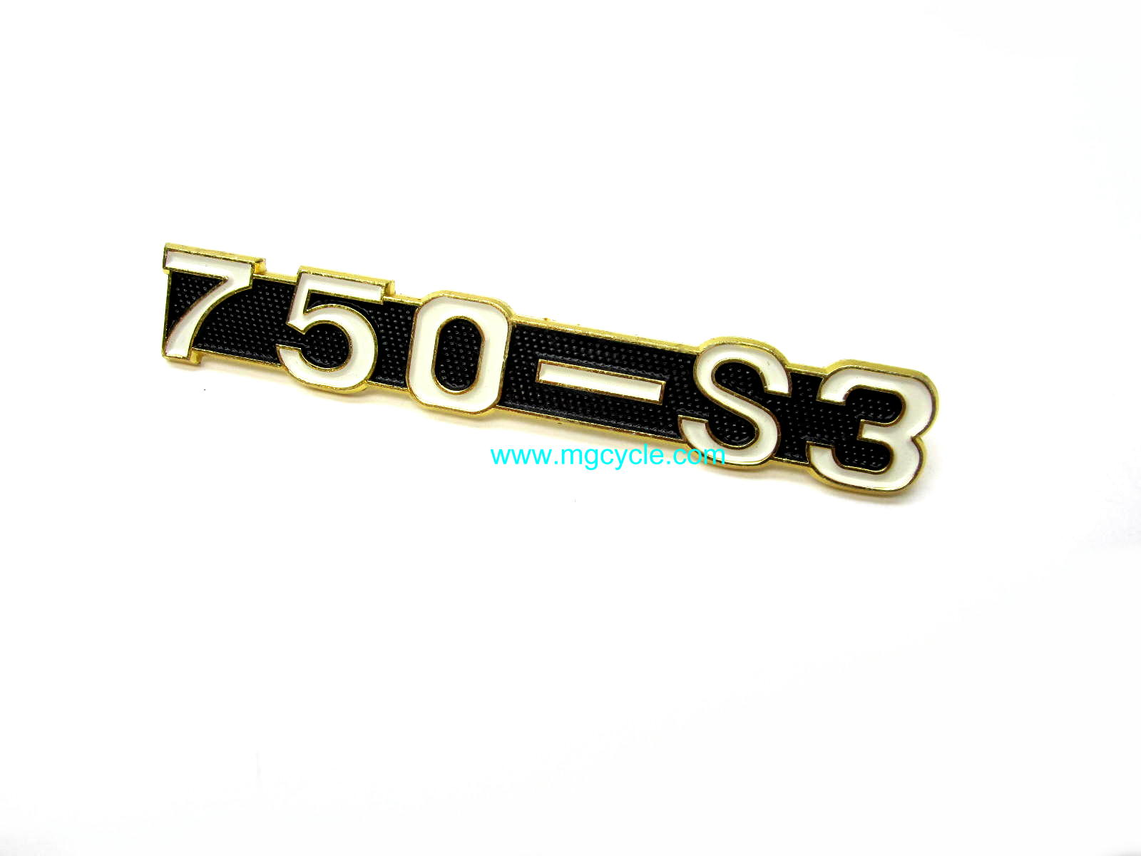 "Badge, emblem ""750-S3"" for side cover"