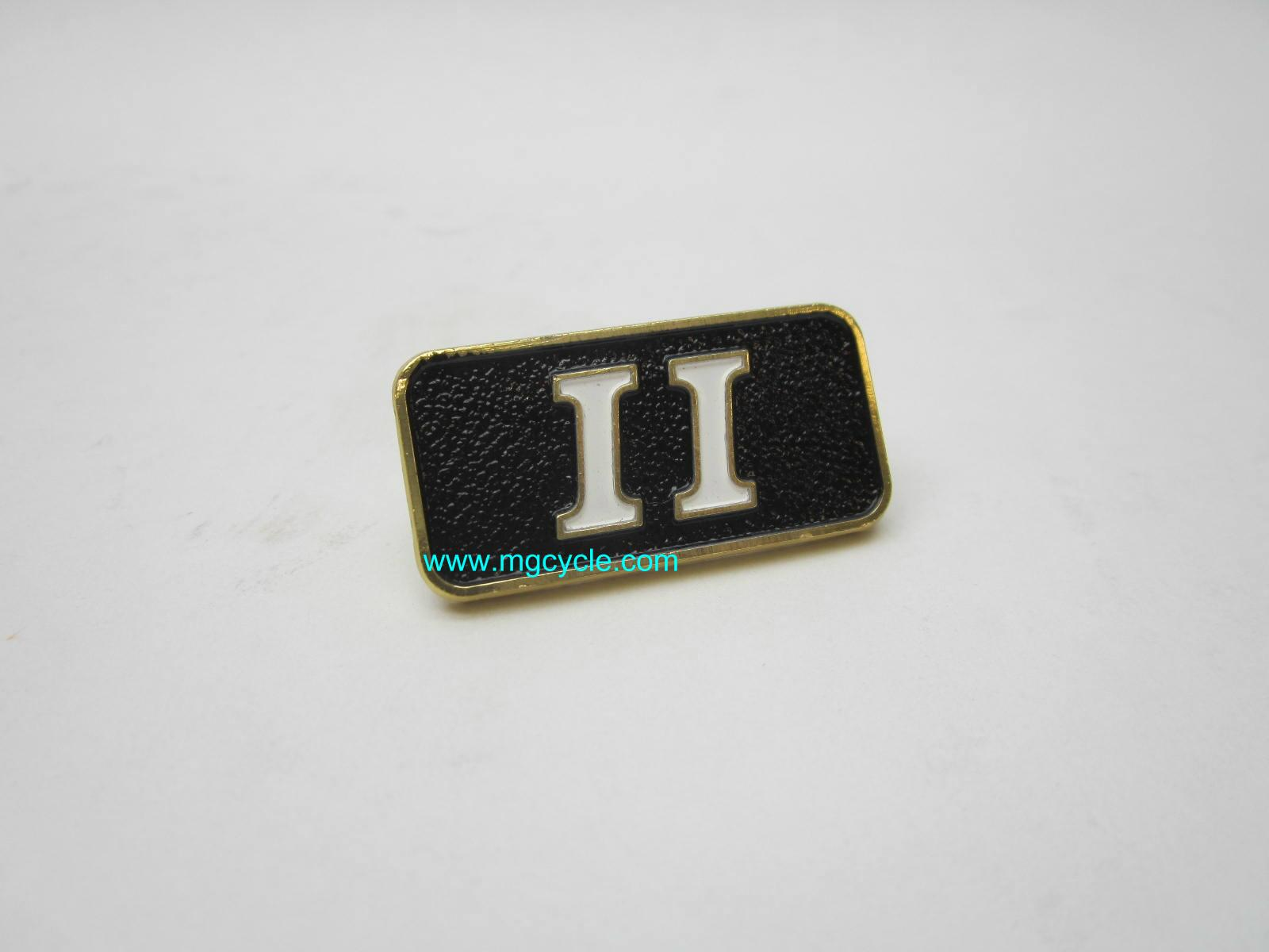 Sidecover badge, II, for LM II SP II V35 II V50 II