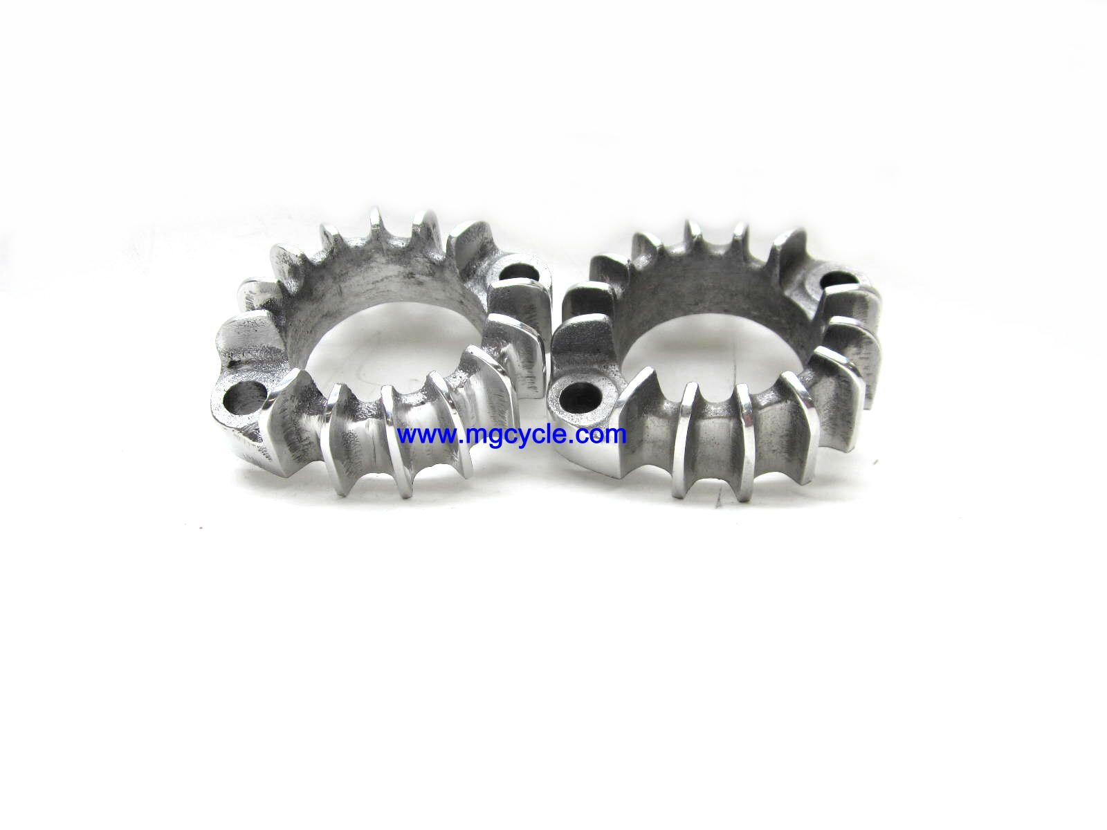 aluminum exhaust flange or clamp with cooling fins