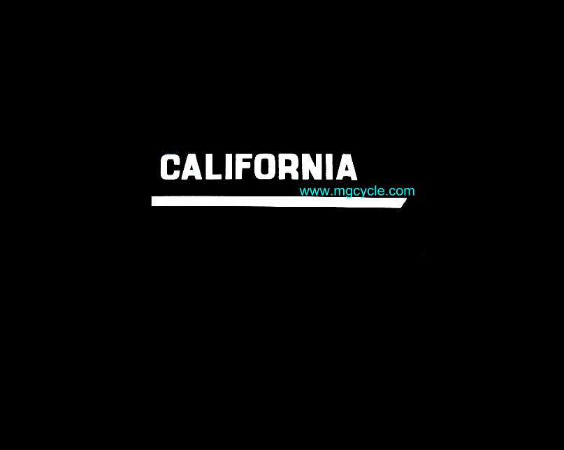 Sidecover decal pair for 850T3 California