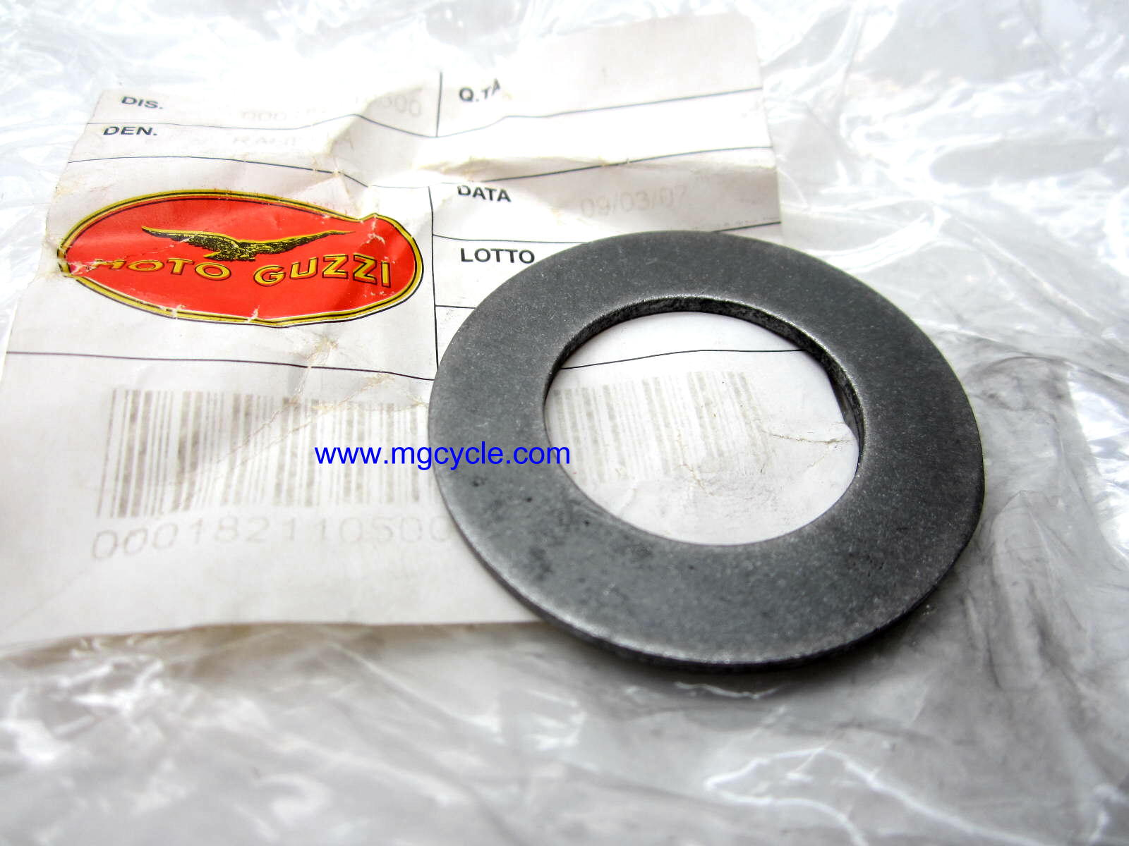 Transmission main shaft shim 2.0mm GU18211050