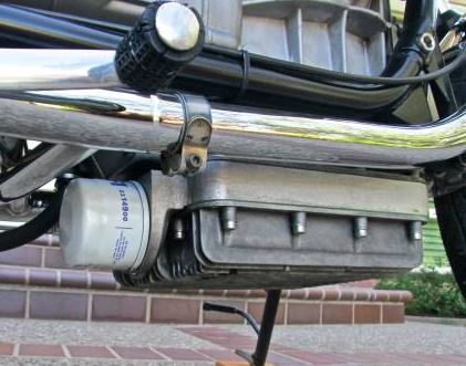 external oil filter sump extender, filter outside rear - Click Image to Close