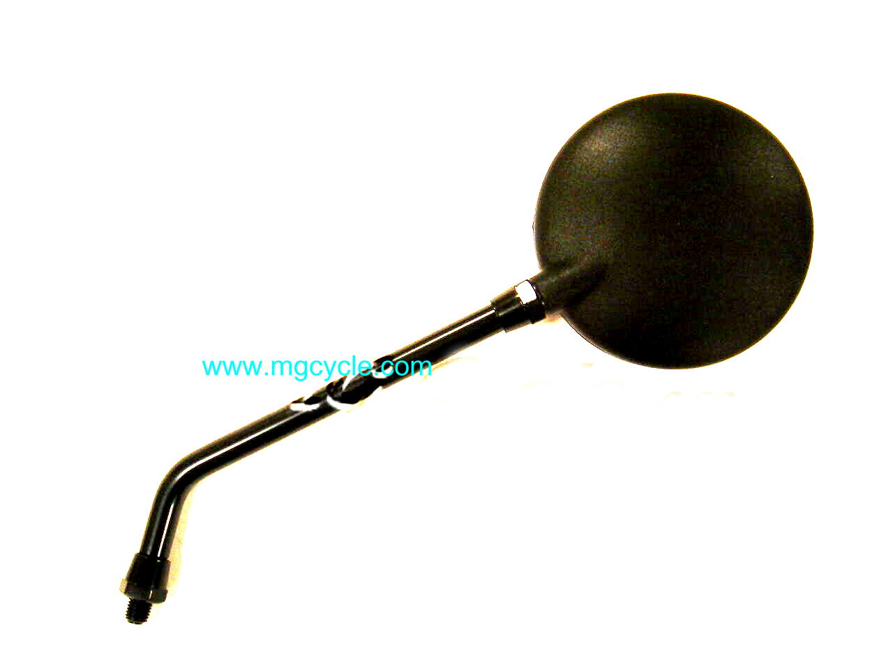 black round mirror, screw in, 10 inch stem