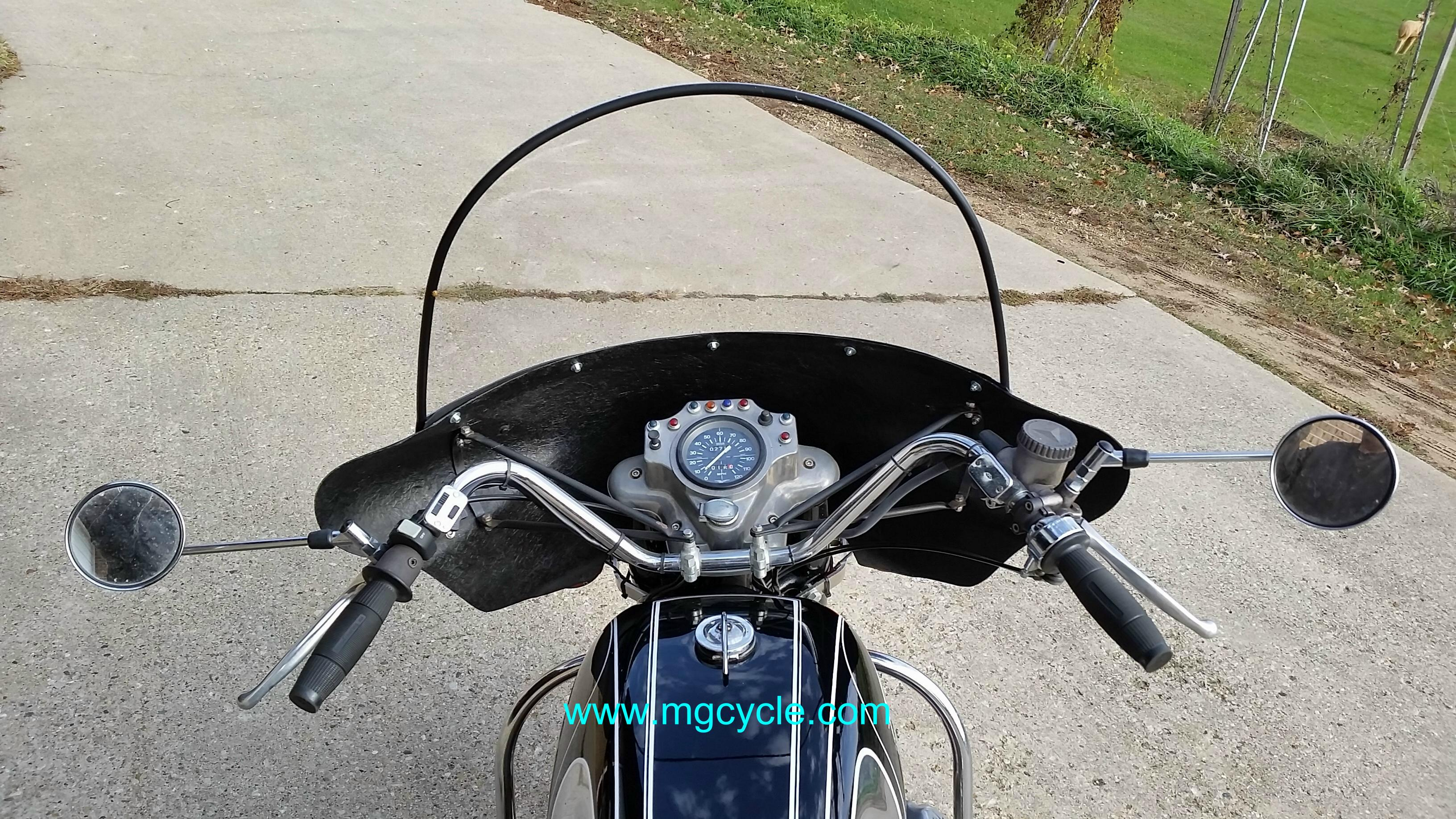 round mirror, screw in fits all Guzzi threaded mirror models - Click Image to Close