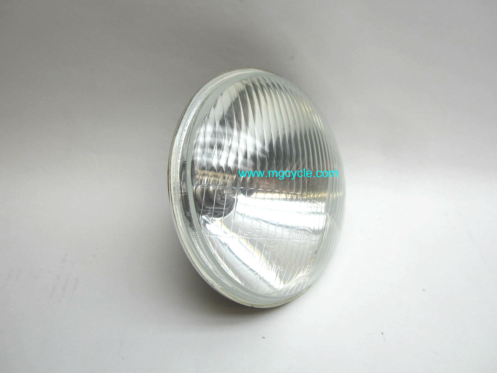 "7"" headlight, lens and reflector with H4 60-55 halogen bulb"