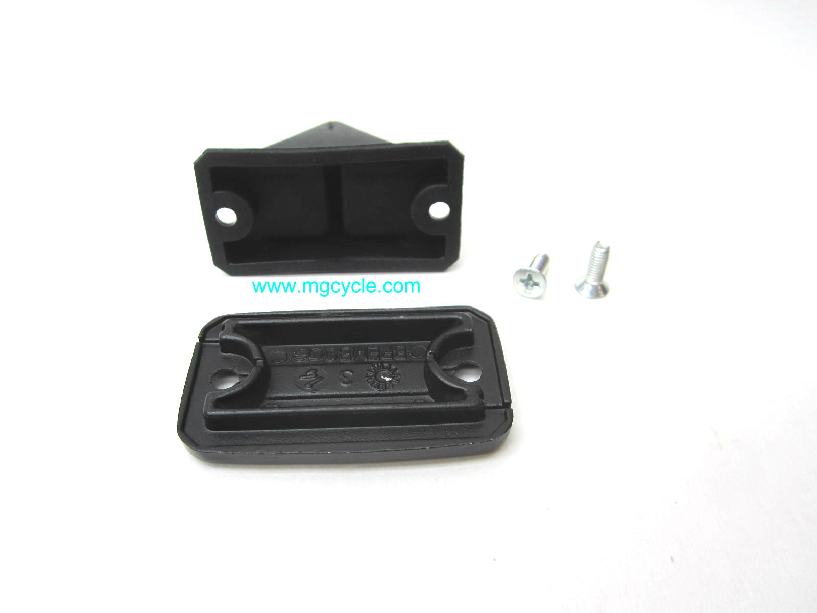 Brembo master cylinder lid kit, with bellows for rect hand mc