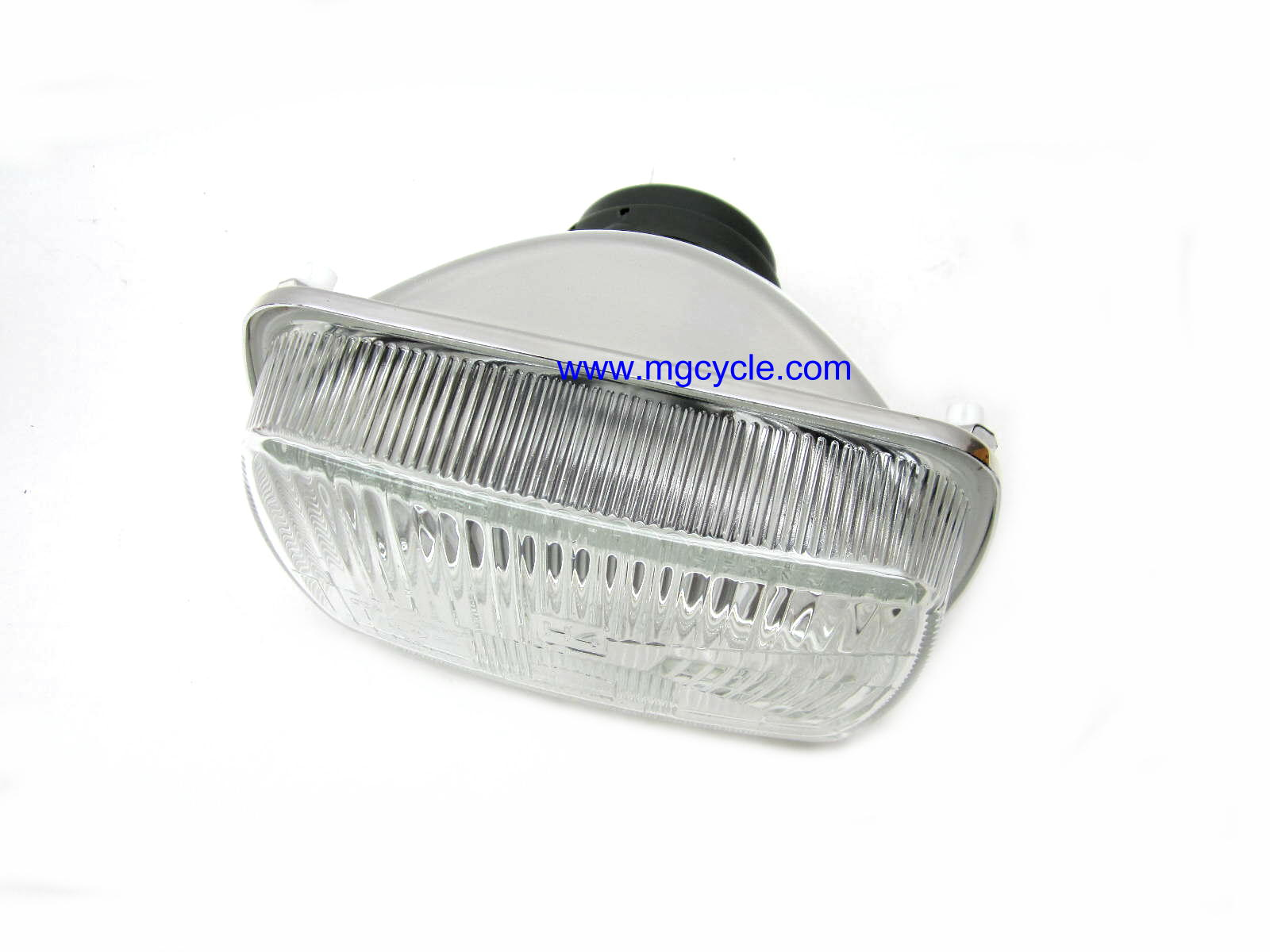 euro headlight, rectangular for fairing models 1980s-90s