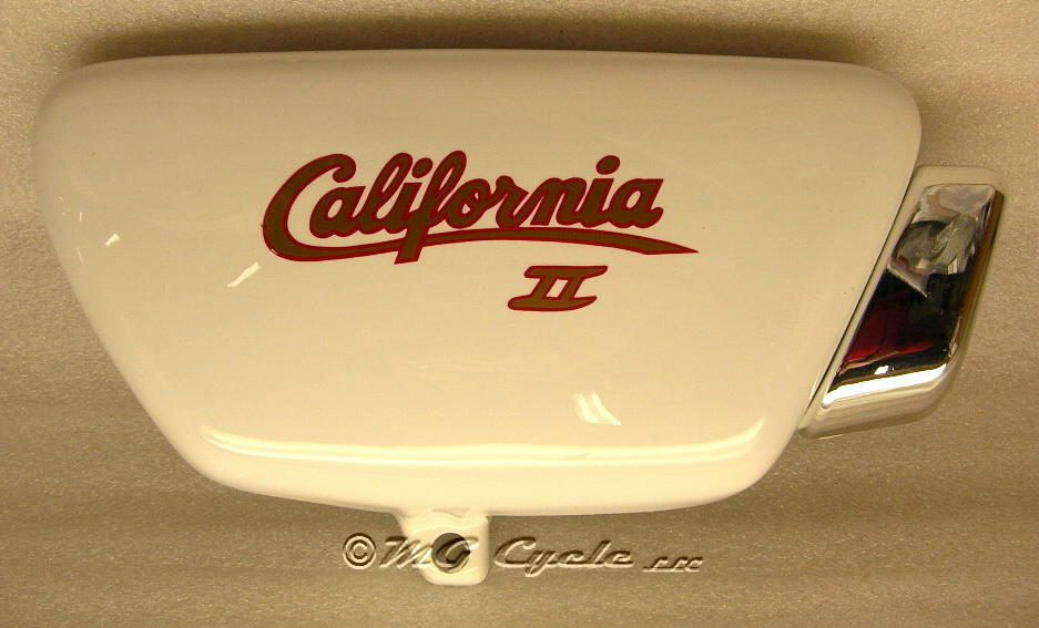 Cal II sidecover, right, white, with decal, special order