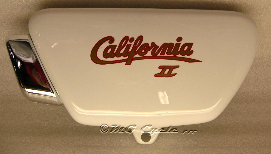 Sidecover Cal II, left, white, with decal, special order