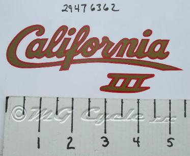 decal, side cover Cal3 gold-red