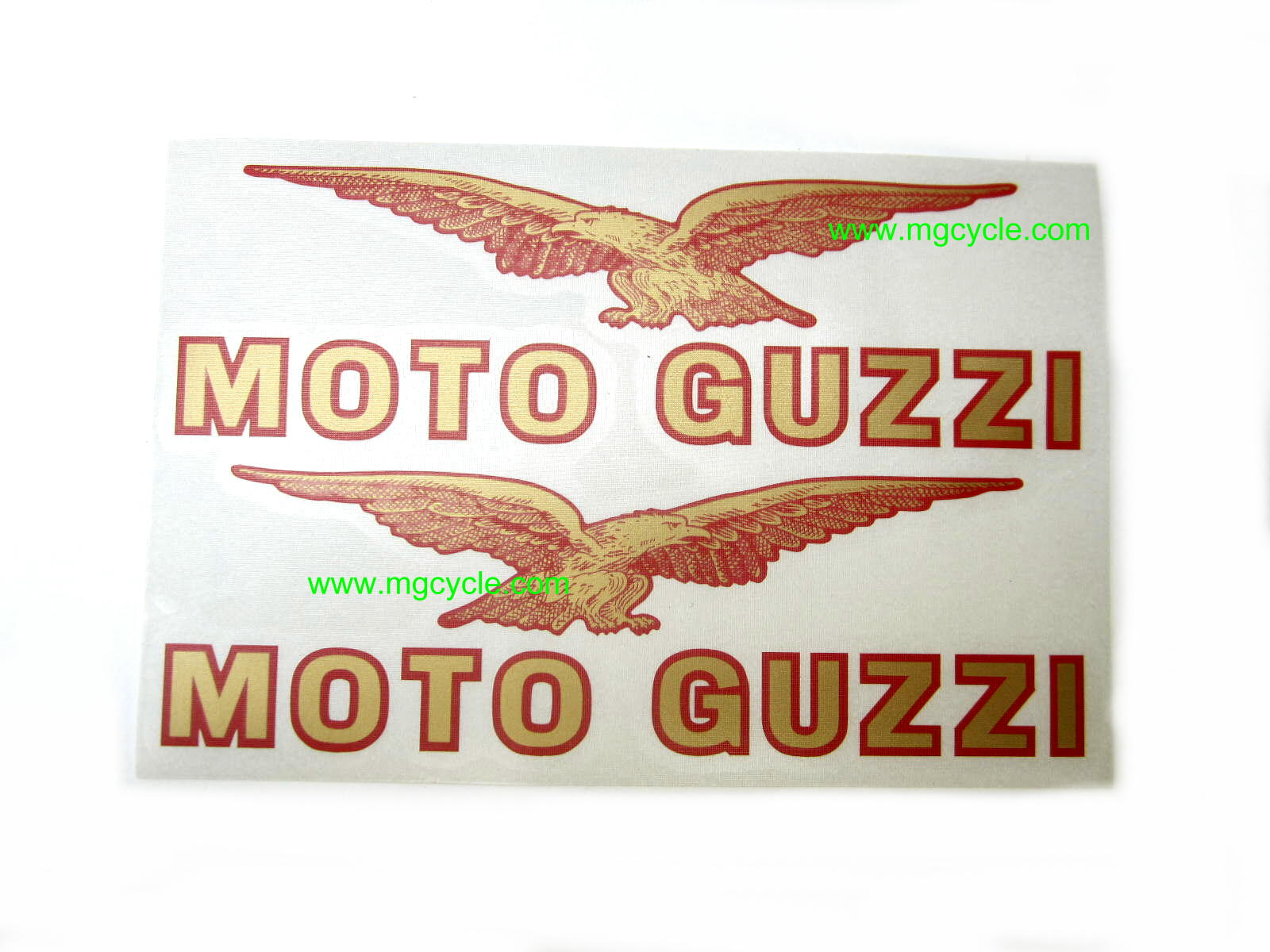 Decal, red-gold fuel tank pair Cal 1100 1100 Sport carbed
