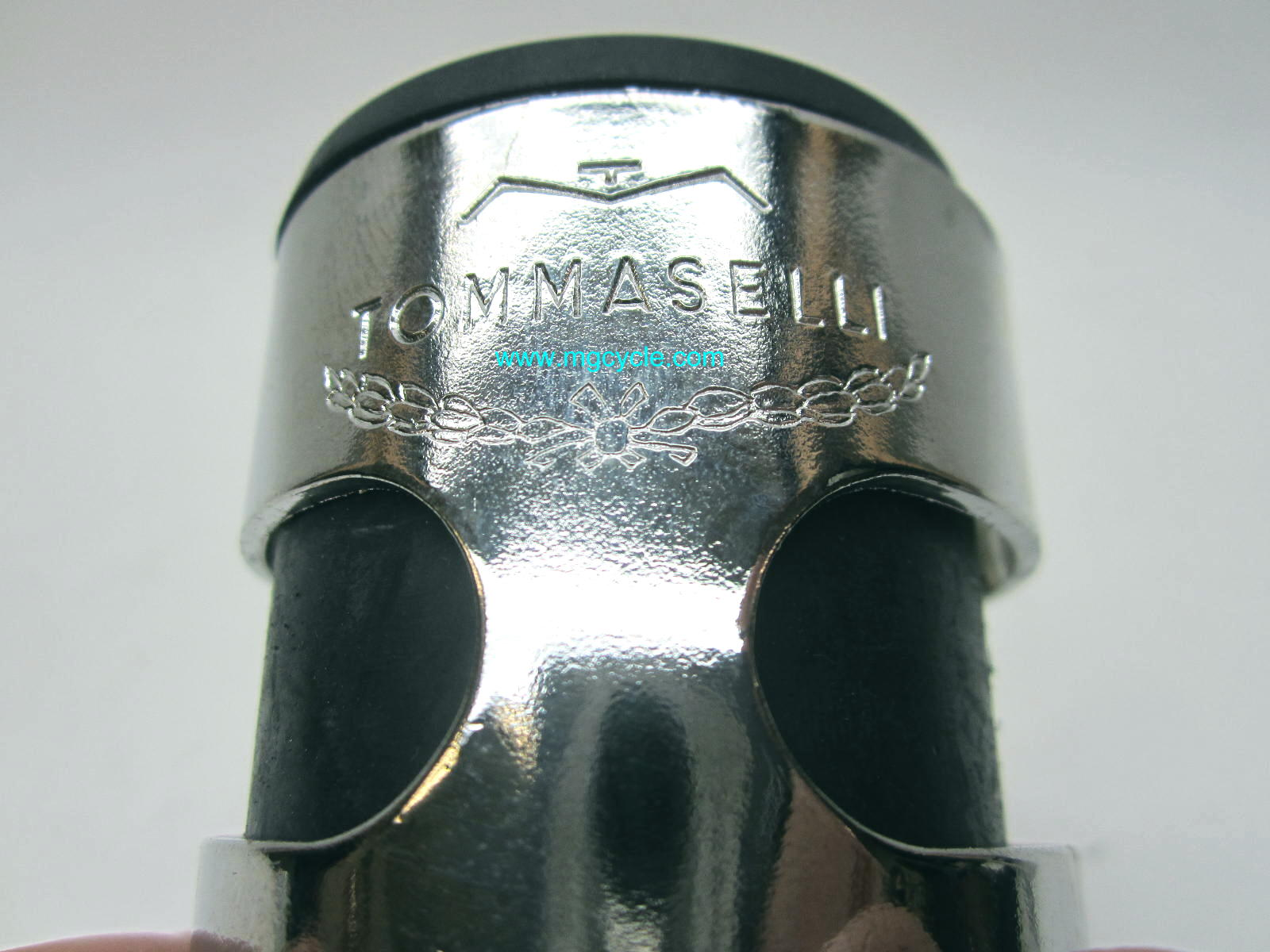 Tommaselli headlight ears, 38mm fork Guzzi Ducati Cafe