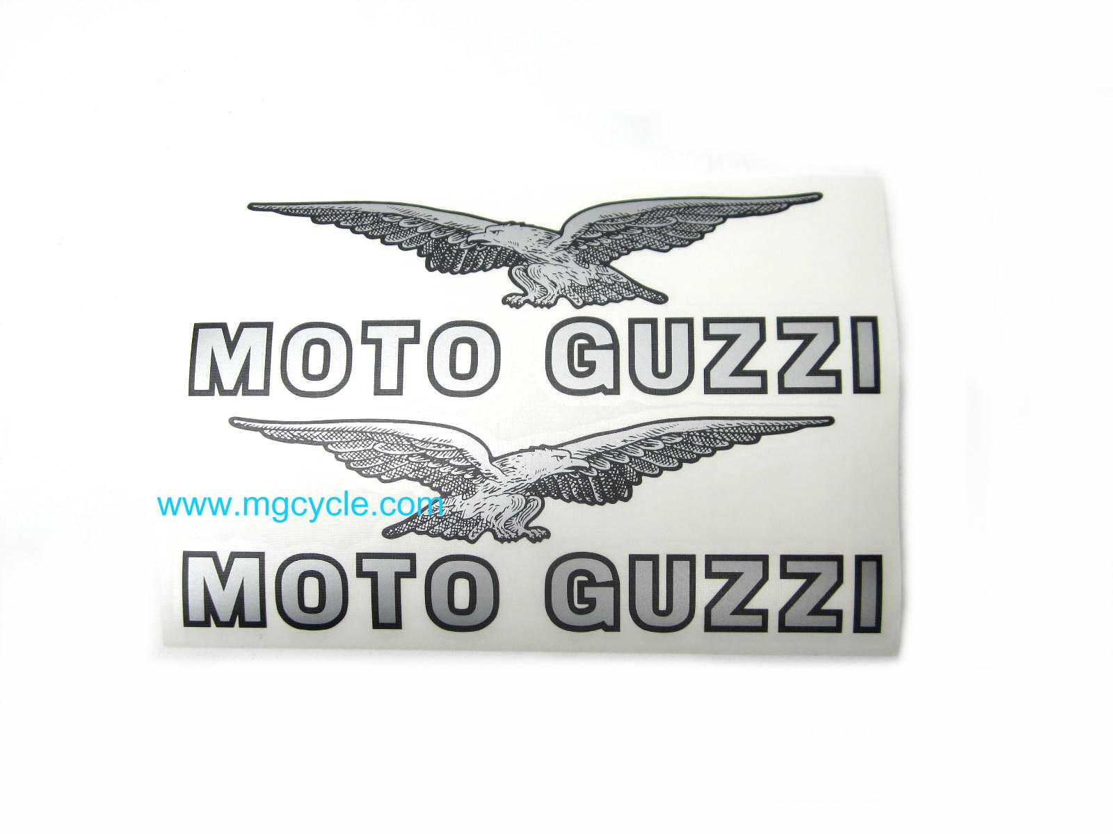 Fuel tank decal set, black and silver pair