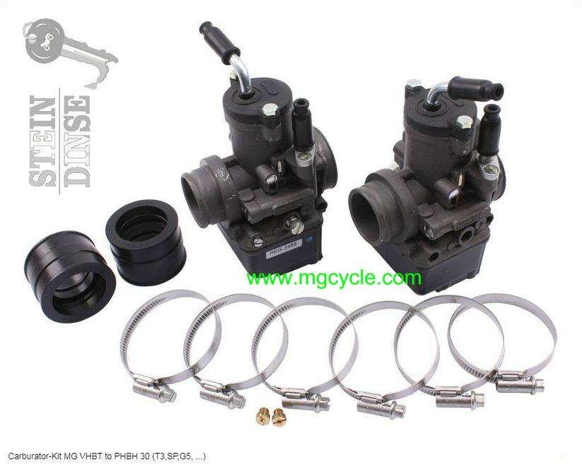 carburetor conversion kit: VHBT to PHBH: G5 SP CX100