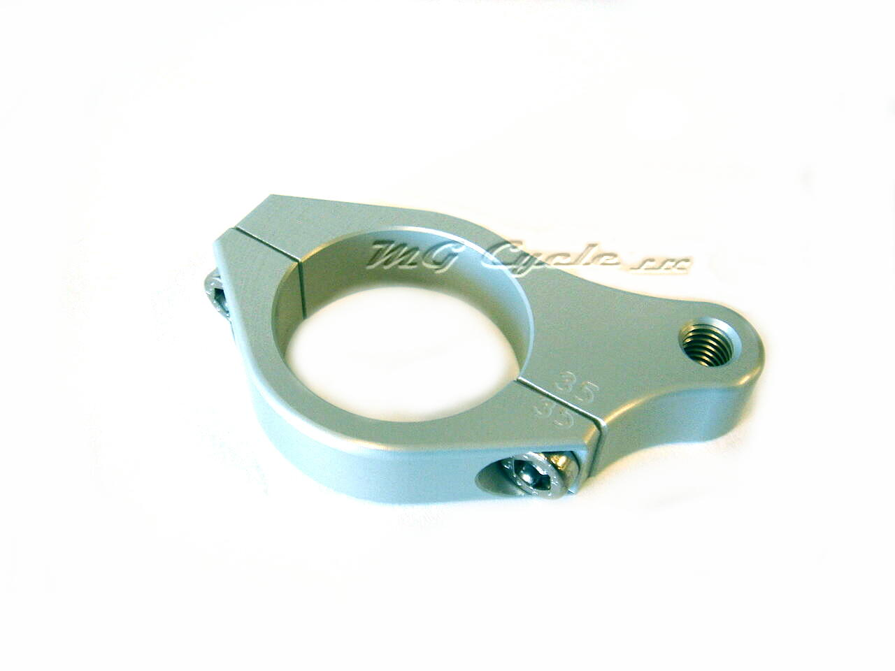 Steering damper attachment clamp for 35mm fork