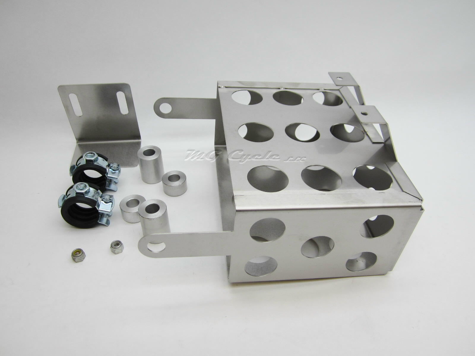 remote battery box, stainless steel