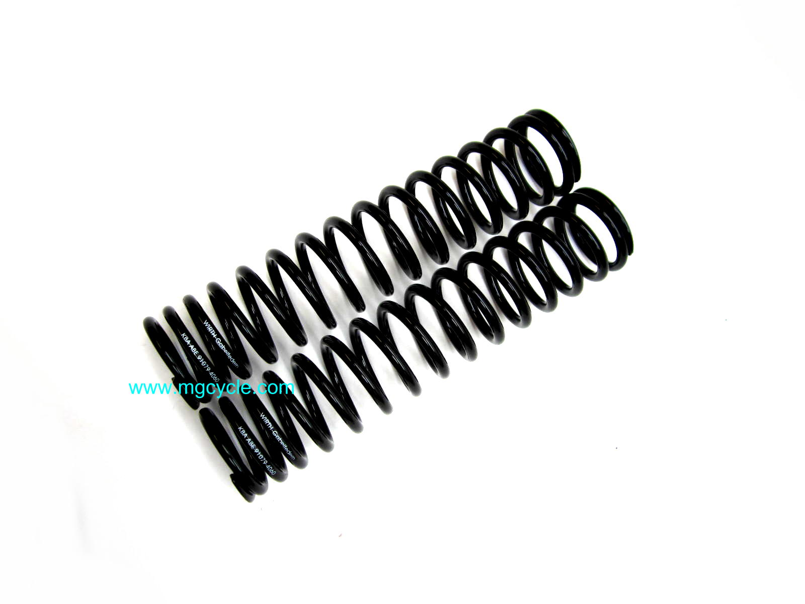Wirth progressively wound fork spring set, V7/Amb/Eldorado