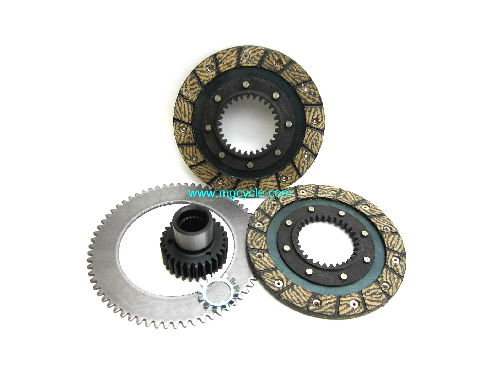 SD-TEC clutch kit, 2 plates, hub, intermediate plate 5 speeds