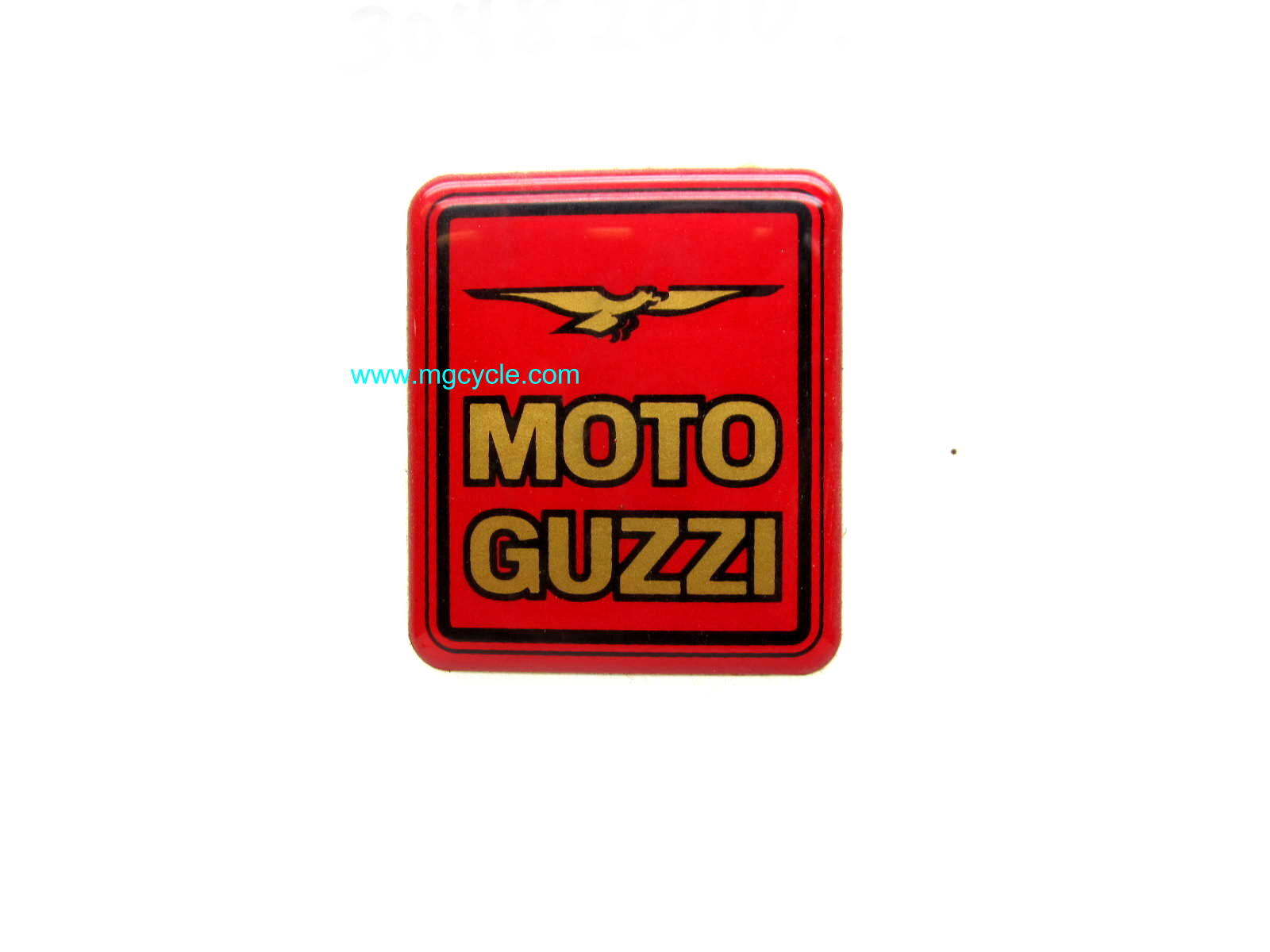 "Givi saddlebag emblem, ""Moto Guzzi"", replaces ""GIVI"" emblem"