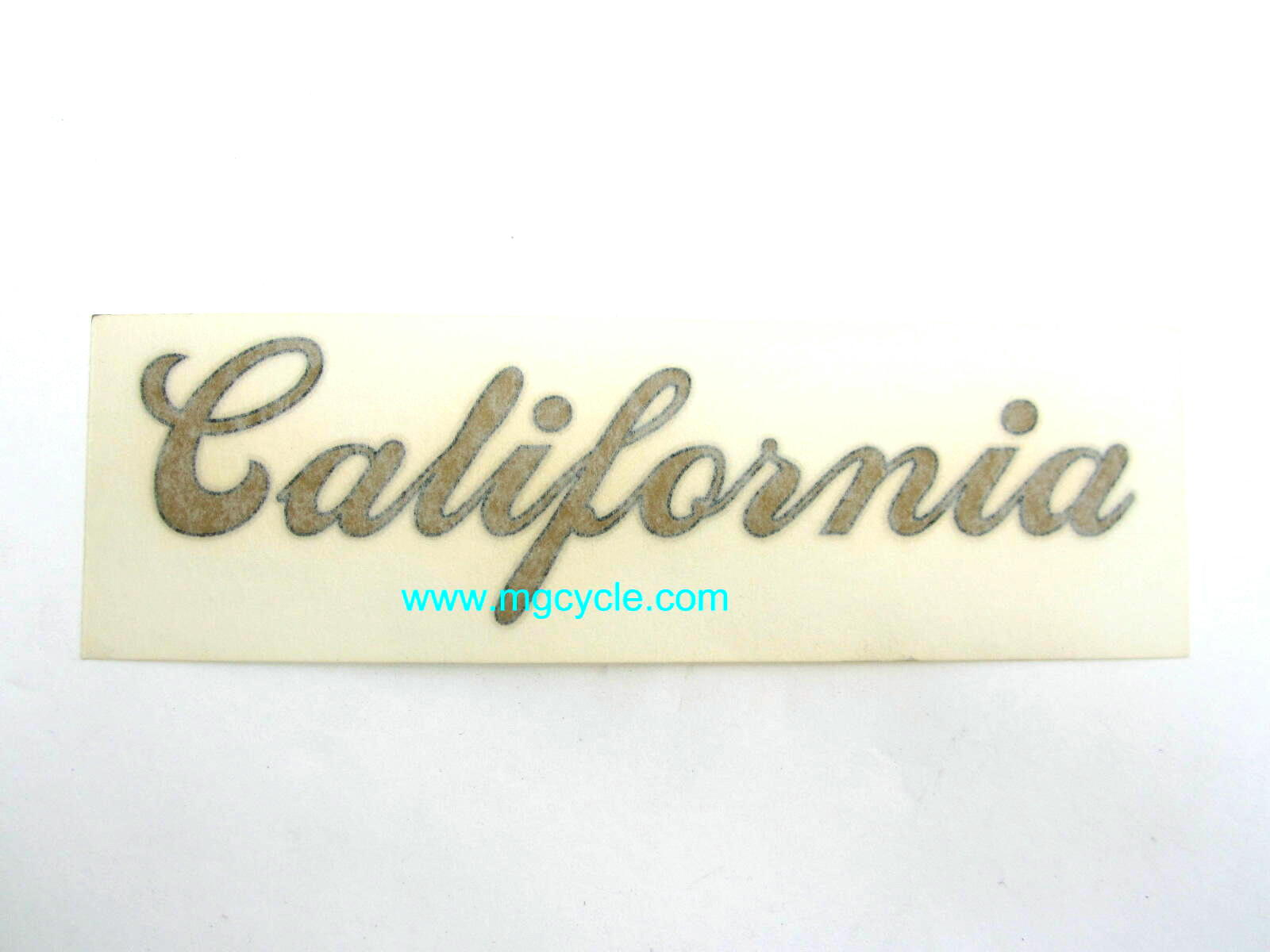 BARGAIN BIN: California side cover decal, California 1100